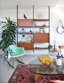 Rocking Chair , Eames + George Nelson's Ball Clock