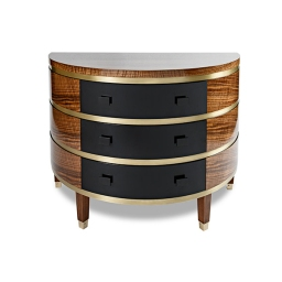Brass, Walnut and black lacquer: $7550